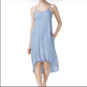 RACHEL Rachel Roy Blue Chambray Slip Dress